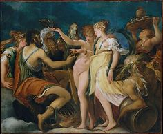 Andrea Schiavone (Andrea Medulic or Meldolla)  (Italian, ca. 1510?–1563). The Marriage of Cupid and Psyche, ca. 1550. The Metropolitan Museum of Art, New York. Purchase, Gift of Mary V. T. Eberstadt, by exchange, 1972 (1973.116)