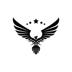 Eagle with a star symbol - Vector Background Wallpaper For Photoshop, Light Background Images, Sunset Wallpaper, Shiva Tattoo Design, Sketch Tattoo Design, Phoenix Images, Photoshop Logo, Best Photo Background, Game Logo Design