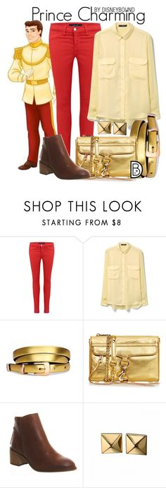 """""""Prince Charming"""" by leslieakay ❤ liked on Polyvore featuring J Brand, MANGO, Rebecca Minkoff, Office, Waterford, disney and disneybound"""