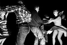 Rockabilly swing session, black and white photography