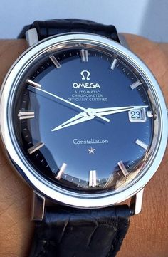 Vintage Watches Collection : Omega Constellation - in style mens watches, best mens watches, mens watches all. - Watches Topia - Watches: Best Lists, Trends & the Latest Styles Best Watches For Men, Luxury Watches For Men, Male Watches, Omega Watches For Men, Vintage Watches For Men, Watch For Men, Black Watches, Men's Watches, Stylish Watches