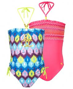 Rocawear Kids Swimwear, Girls One Piece Swimsuit