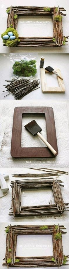 Image: My DIY Projects: Easy Way To Make a Spring Frame - :) http://www.freeshareimages.com/my-diy-projects-easy-way-to-make-a-spring-frame/ #repinned