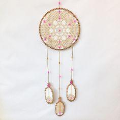 Hama perler bead dreamcatcher by coriander_dk