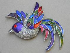 Huge Vintage Figural Colored Enamel and by mycottagecollection, $37.00
