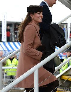 The Duke and Duchess of Cambridge attend the Cheltenham Festival