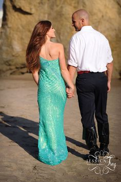 The Fairy Tale photo shoots continue! I'm so excited to share the first part of our Little Mermaid fairy tale photo shoot in Malibu! Little Mermaid Wedding, Ariel The Little Mermaid, Our Wedding Day, Dream Wedding, Disney Engagement Pictures, Wedding Mint Green, Wedding Inspiration, Wedding Ideas, Wedding Photos