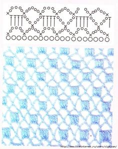 Lattice crochet stitch diagram.