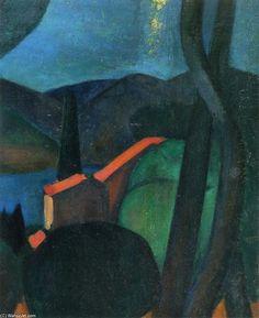 'Martigues Landschaft', öl auf leinwand von André Derain (1880-1954, France)