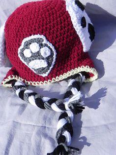 Paw Patrol Marshall crochet hat pattern https://www.etsy ...