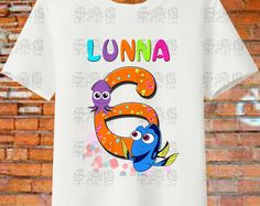 FINDING DORY PERSONALIZE Birthday Girl Resolution Image Iron On Transfers. Digital File