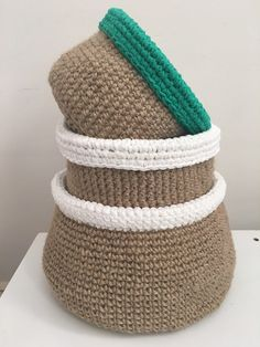Jute Baskets Free Pattern