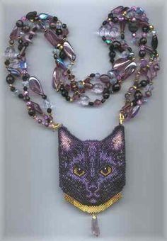 A Muse Ink Beadwork Designs - Mysti (Cat 2)  beaded amulet bag