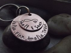 Infinity Love family copper keychain or anniversary by patsdesign