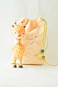 Giraffe Figurine Doll animal, ABC animals by Paola Zakimi.