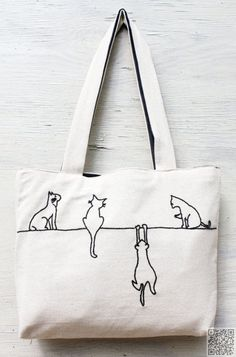 8. #Alley Cats - 24 Reusable Bags That Will Totally #Change Your Shopping #Habits ... → DIY #Reusable