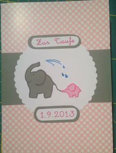 Baptism greeting card Baptism Greetings, Greeting Cards, Handmade, Hand Made, Handarbeit