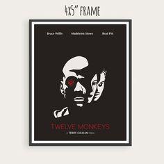 Twelve Monkeys (1995), Bruce Willis, Brad Pitt, Madeleine Stowe, Minimal Movie…