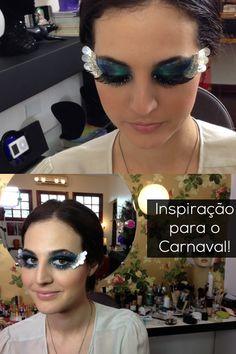 Quer uma maquiagem bapho pro Carnaval? Que tal essa com cílios postiços artísticos?