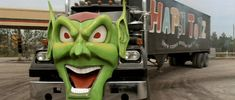 THE GREEN GOBLIN SEMI-TRUCK.....LOVE that show !!!!! (:       .Its on sometimes...Maximium Overdrive..