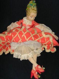"RARE Lenci Marionette Colombina Boudoir Doll 26"""
