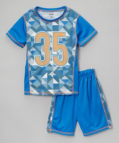 Another great find on #zulily! Royal '35' Jersey Tee & Active Shorts - Infant, Toddler & Boys #zulilyfinds