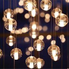 Bocci LED Crystal Glass Ball Pendant Lamp Meteor Rain Meteoric Shower Stair Bar Droplight Chandelier Lighting AC110-240V(China (Mainland))