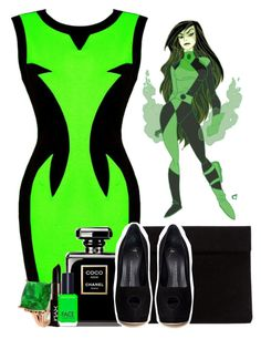 """""""Shego ~Kim Possible~"""" by xxxmakeawish ❤ liked on Polyvore featuring Giuseppe Zanotti, Diamondere, NYX and FACE Stockholm"""
