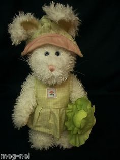 Boyds Bear Plush Rosalie Bloomengrows Bunny Rabbit with Cabbage Dressed New