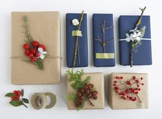 lovely DIY foraged gift toppers : Stephmodo