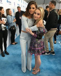 Selena Gomez and Sabrina Carpenter at We Day