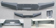 Plate Steel Winch Bumper, Style #1 for bronco.