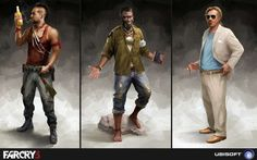 Some character concept artworks for Far Cry 3 by Bruno Gauthier Leblanc
