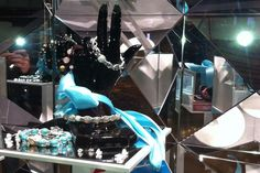 Image result for mirror jewelry window display