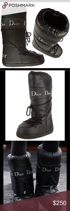Christian Dior Moon Boots 6 Authentic Christian Dior moon boots from Saks Fifth Avenue. Size 6. More detailed photos to come tonight! Gently worn. These boots are so cute! Christian Dior Shoes Winter & Rain Boots