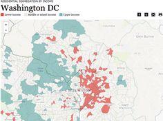 Income segregation in WDC