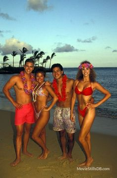 Mark Paul Gosselaar, Amber Tiffani Thiessen, Mario Lopez and Elizabeth Berkley in Hawaii Mark Paul Gosselaar, Tiffany Amber, Zack Morris, Elizabeth Berkley, Tiffani Thiessen, Celebrities Then And Now, Saved By The Bell, Michelle Rodriguez, Actors & Actresses