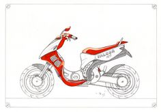 scooter design lineart sketch