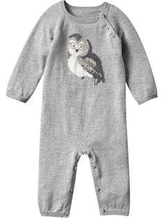 GAP owl sweater onesie.