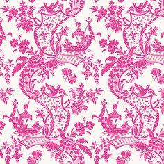Anna Griffin Cotton Fabric Chinoiserie Pink by DaisyPatchwork, £2.95 on etsy
