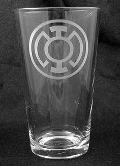 Blue Lantern Corps Etched Pint Glass