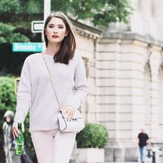 Fall fashion - blush cashmere bouclé from Margaret O'Leary | chunky knits & neutrals