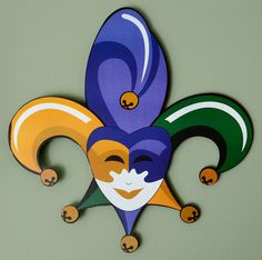 Metal Mardi Gras Jester Door Decoration Image