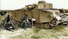 Panzer IV crew at rest