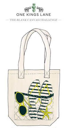 Roco Van Hecke created this tote bag design as part of our Blank Canvas Challege. Re-pin it to vote and visit www.onekingslane.com/designchallenge for contest rules and more!