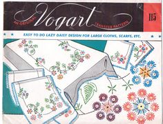 Vintage 50s Crafts Pattern Vogart Transfer Pattern by CloesCloset, $10.00