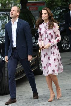 The Duke and Duchess of Cambridge and Prince Harry arriving to celebrate World Mental Heal...