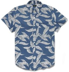 J.Crew Printed Cotton-Twill Short-Sleeved Shirt #Gepamungkas follow me on pinterest