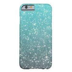 Aqua Ombre Glitter iPhone 6 Case