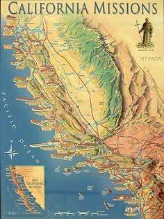 California Mission Map ... the mission records have been an excellent source to help in tracing my paternal grandmothers' line.